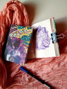 Intérieur carnet journaling dessiné