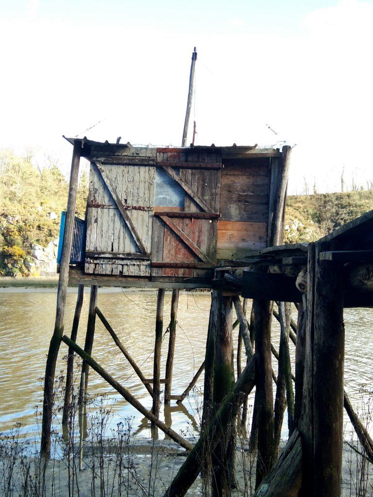 Vieux cabanon de pêche sur la Rance