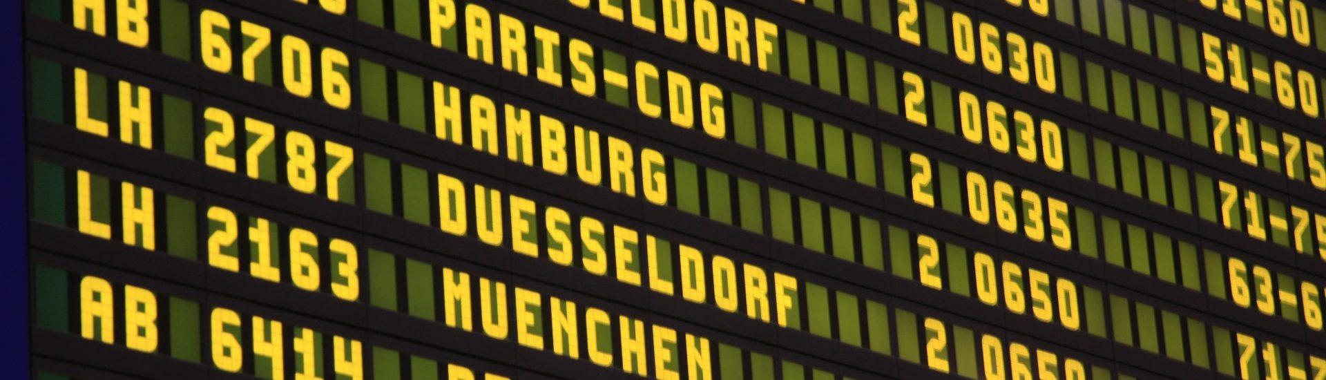 aPanneau aéroport couv bleisure
