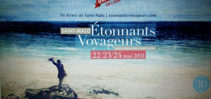 Affiche Etonnants Voyageurs 2021 sur écran