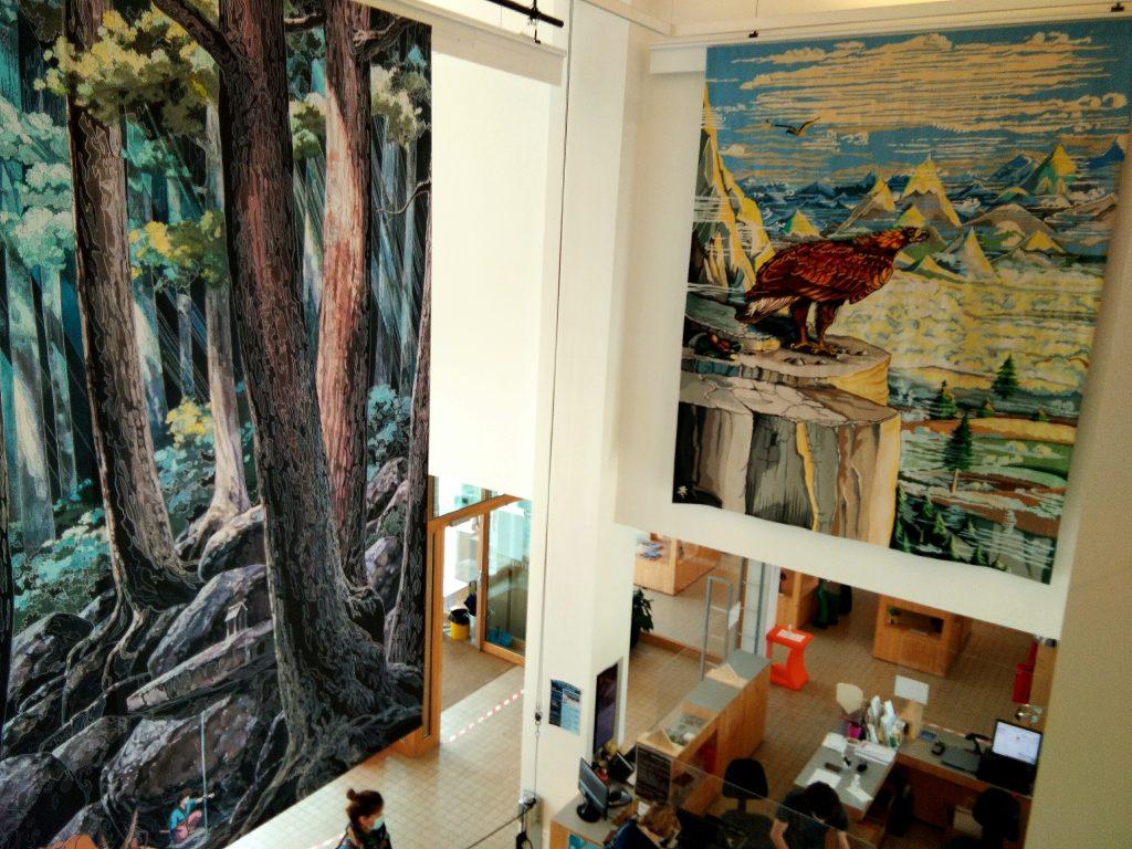Entrée aux deux tapisseries Aubusson